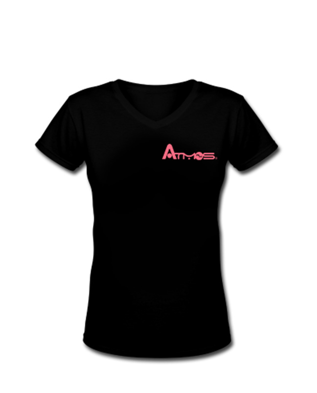 Women's V Neck Shirt - Black