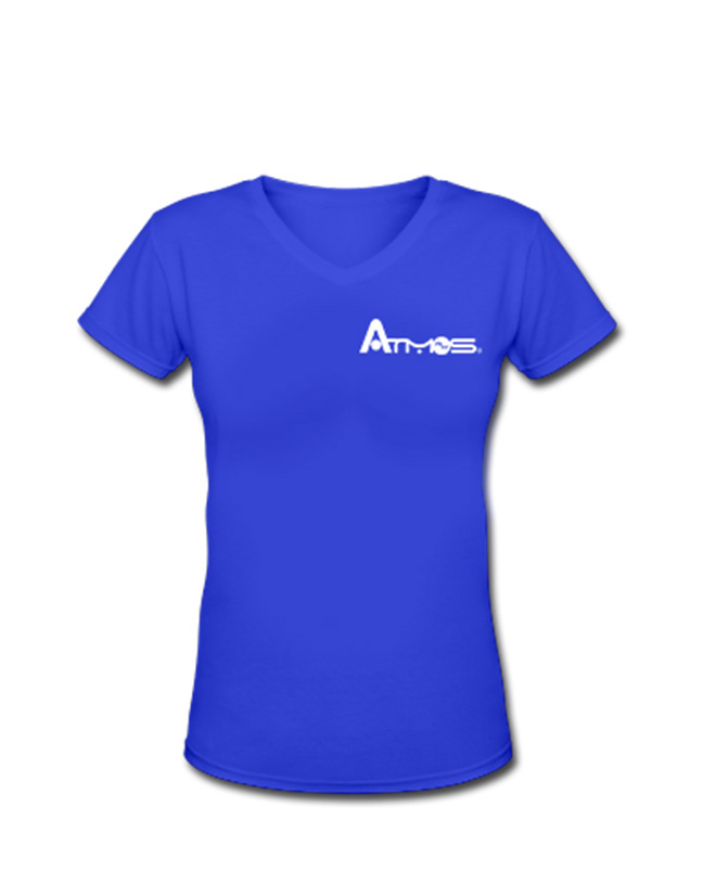 Women's V Neck Shirt - Cobalt Blue