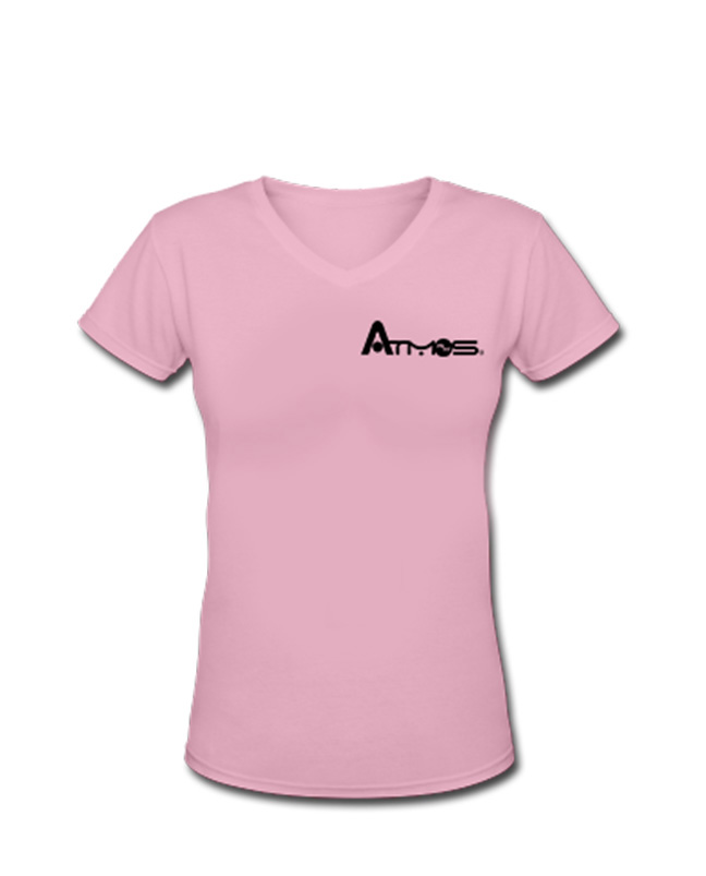 Women's V Neck Shirt - Hot Pink