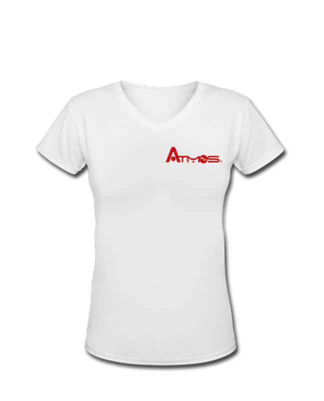 Women's V Neck Shirt - White