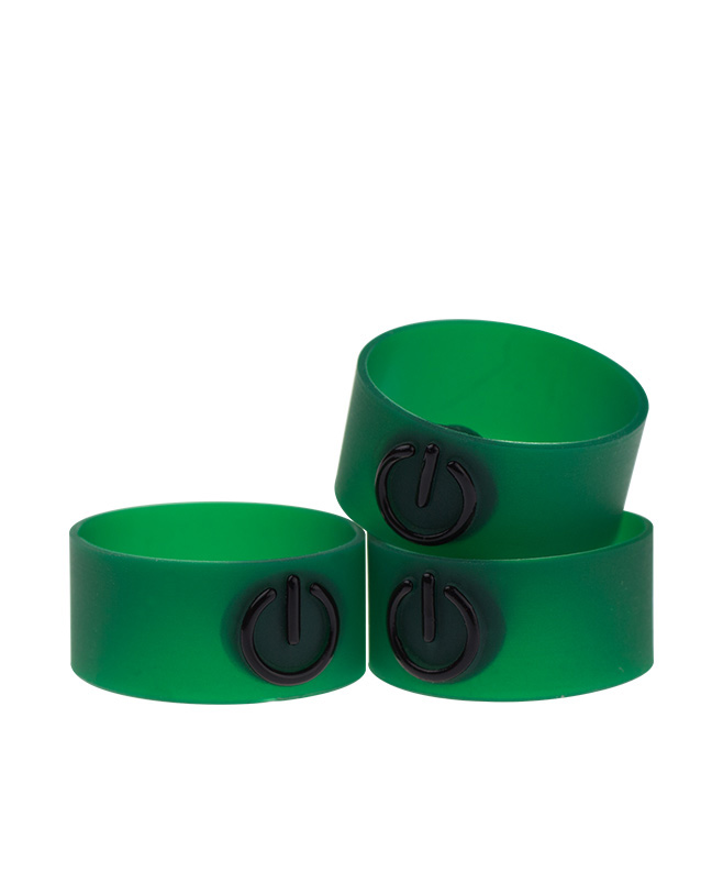 Atmos Rubber Power Button Green - Single