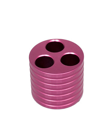 Vaporizer 3 Ring Metal Holder Pink