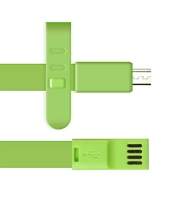Micro USB Charger 3ft Long - Green