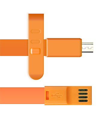 Micro USB Charger 3ft Long - Orange